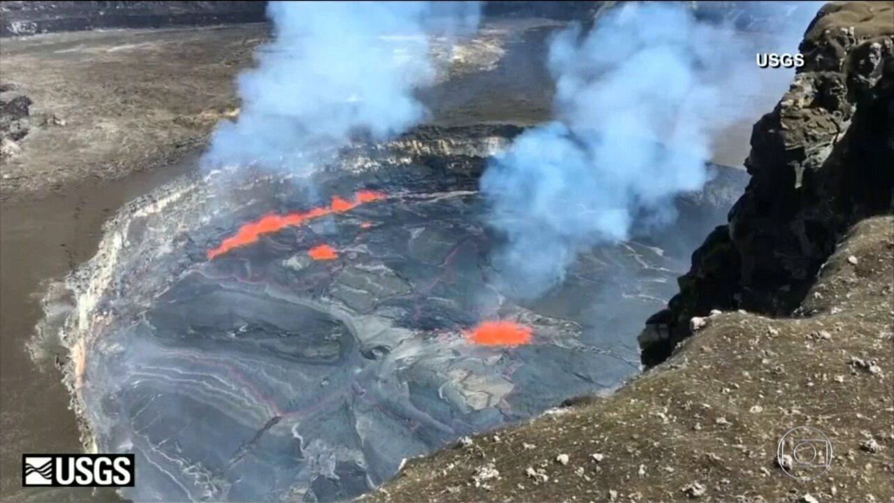 Após a erupção de um vulcão o Havaí declara estado de emergência