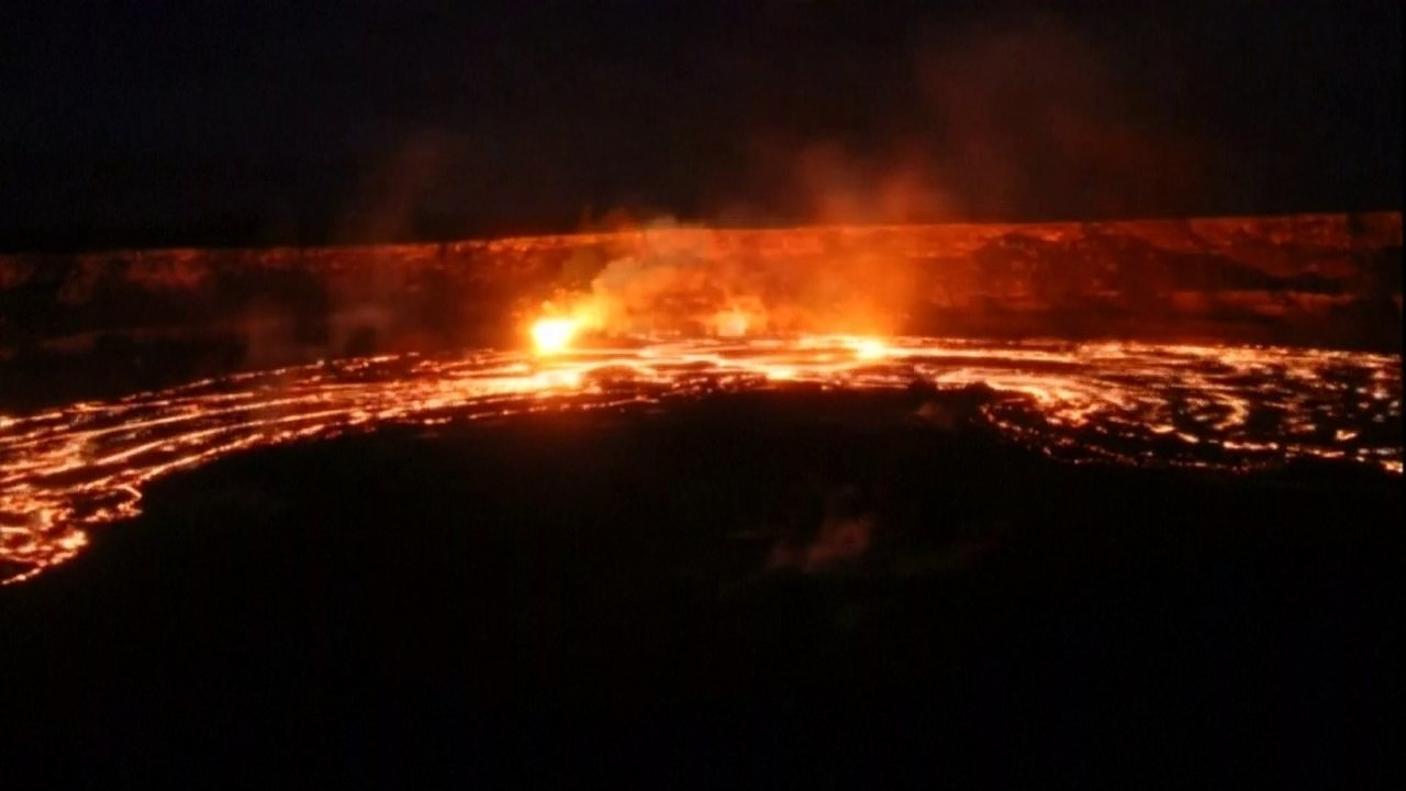 Vídeo mostra lava fluindo do Vulcão Kilauea