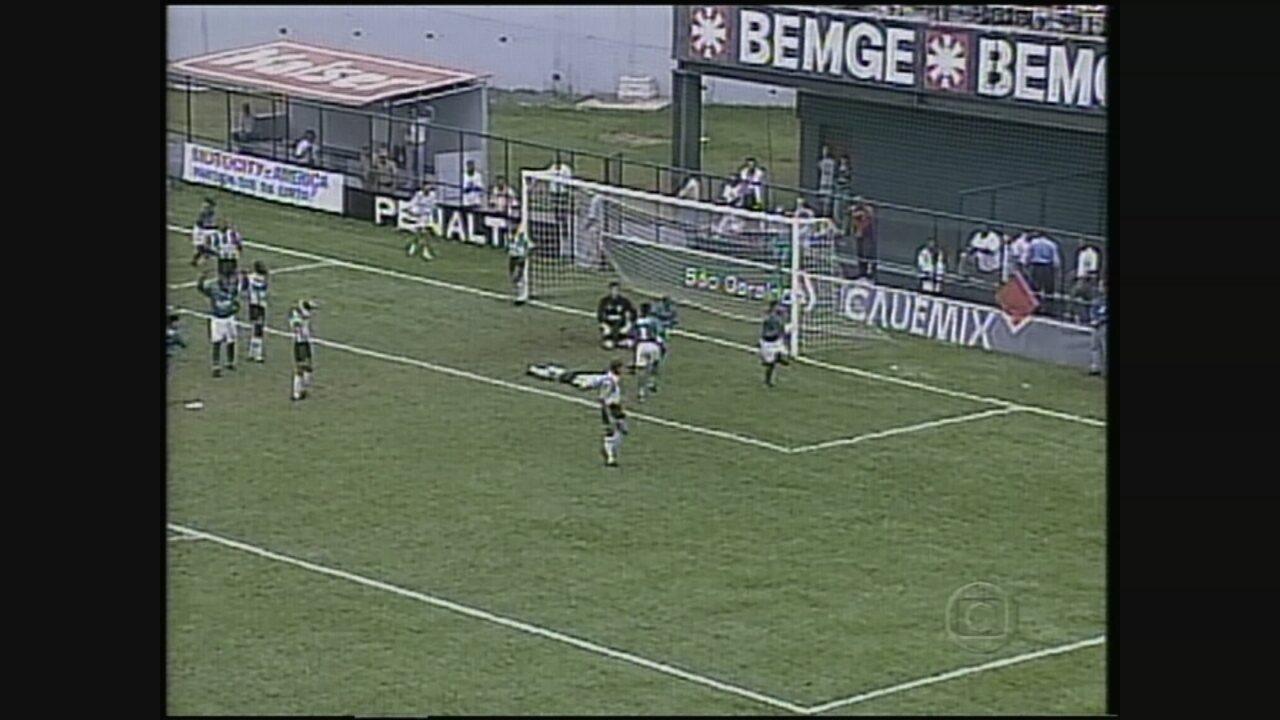 América-MG empata com o Palmeiras e é rebaixado no Campeonato Brasileiro de 1998