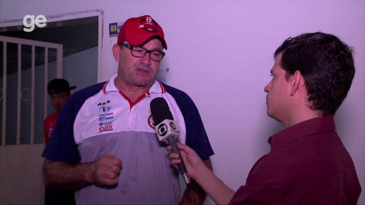 Em coletiva, Jorge Pinheiro analisa derrota do 4 de Julho para o Cordino; veja