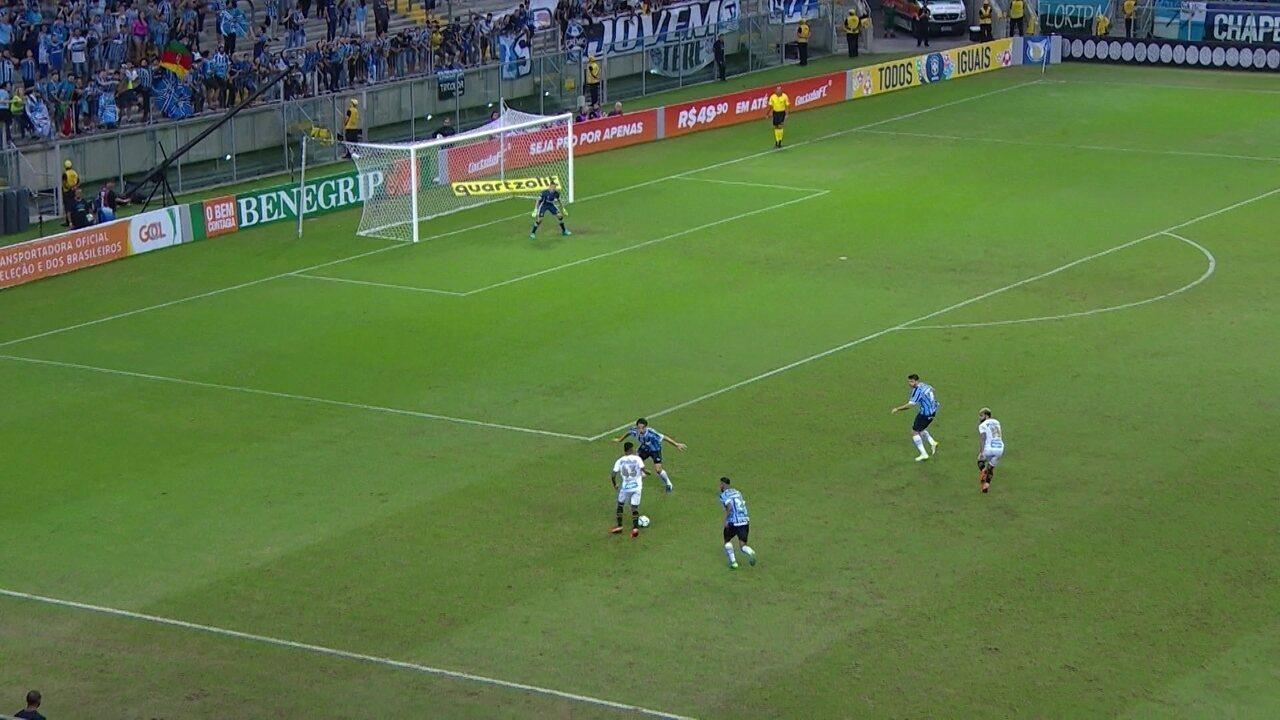 Gol do Santos começa em troca de passes da defesa