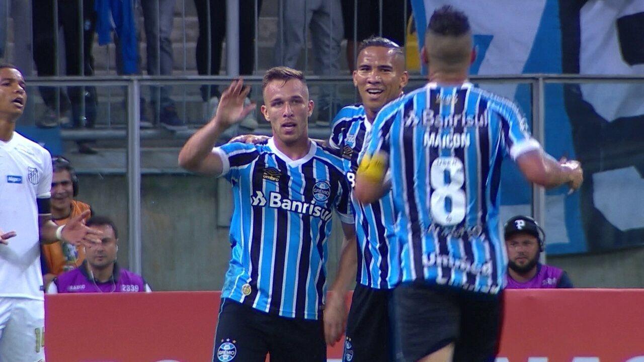 Melhores momentos: Grêmio 5 x 1 Santos pela 4ª rodada do Brasileirão