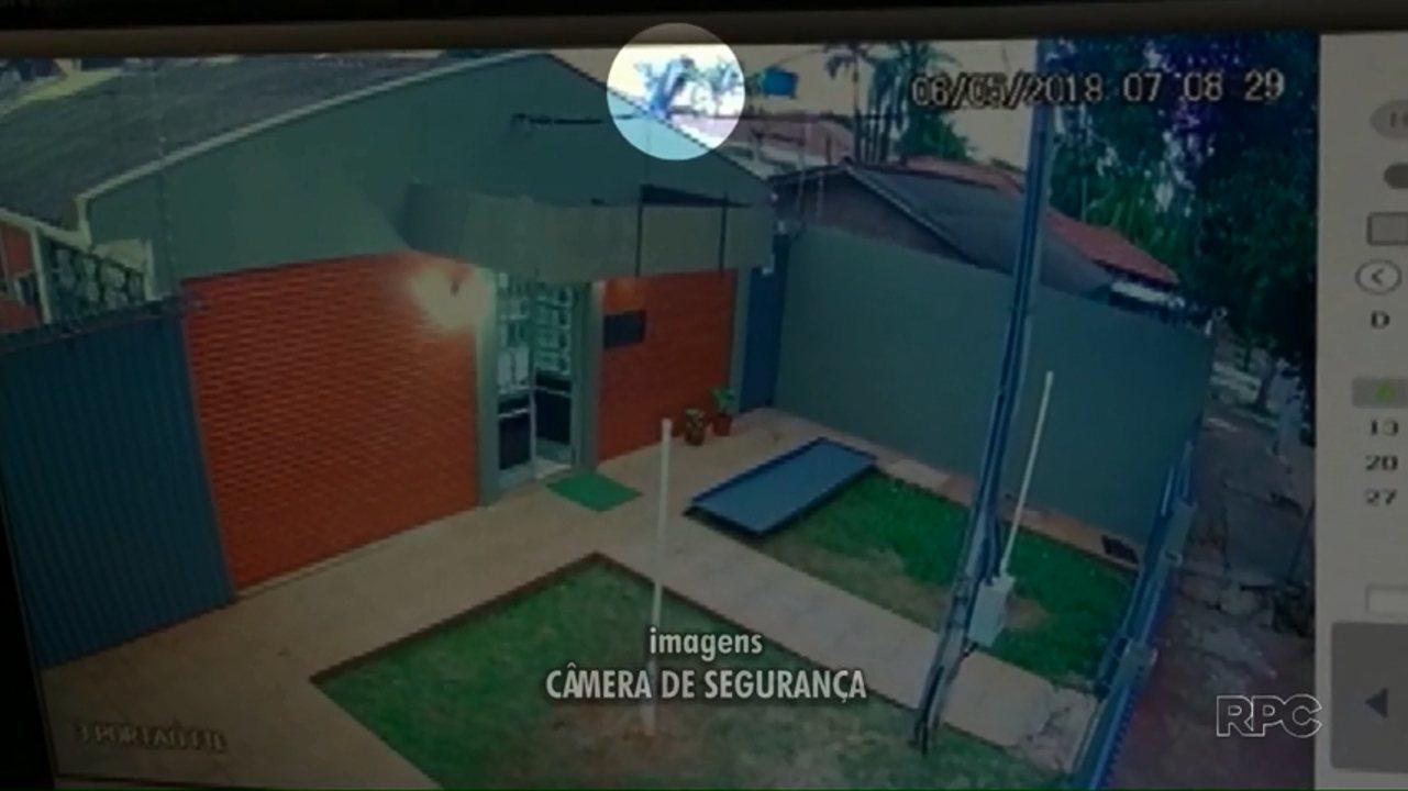 Câmeras flagram fuga da delegacia de Peabiru