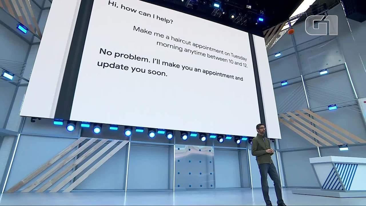 Google apresenta robô telefonista