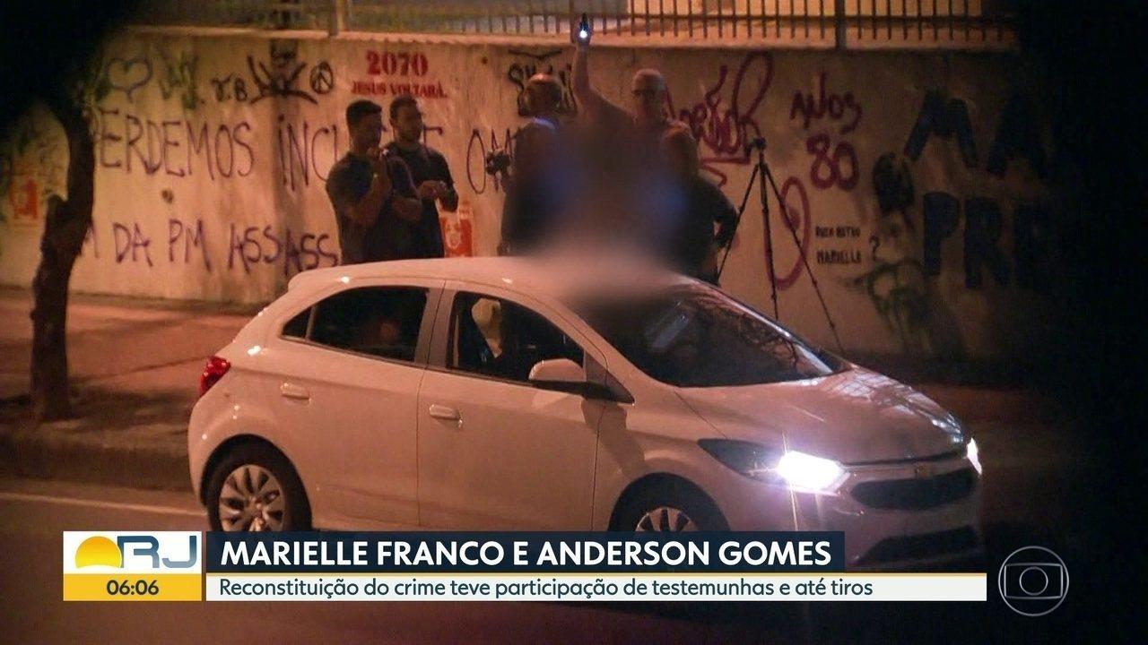 Reconstituição de assassinatos de Marielle Franco e Anderson tem testemunhas e até tiros