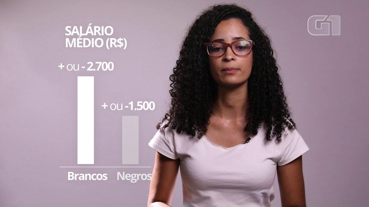 Negros ganham pouco mais que a metade que brancos em mA�dia
