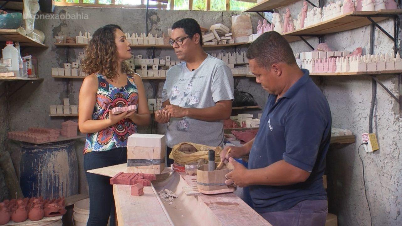 Artista Tirso Fernandes, de Amado Bahia, mostra seu trabalho com miniaturas de casarios