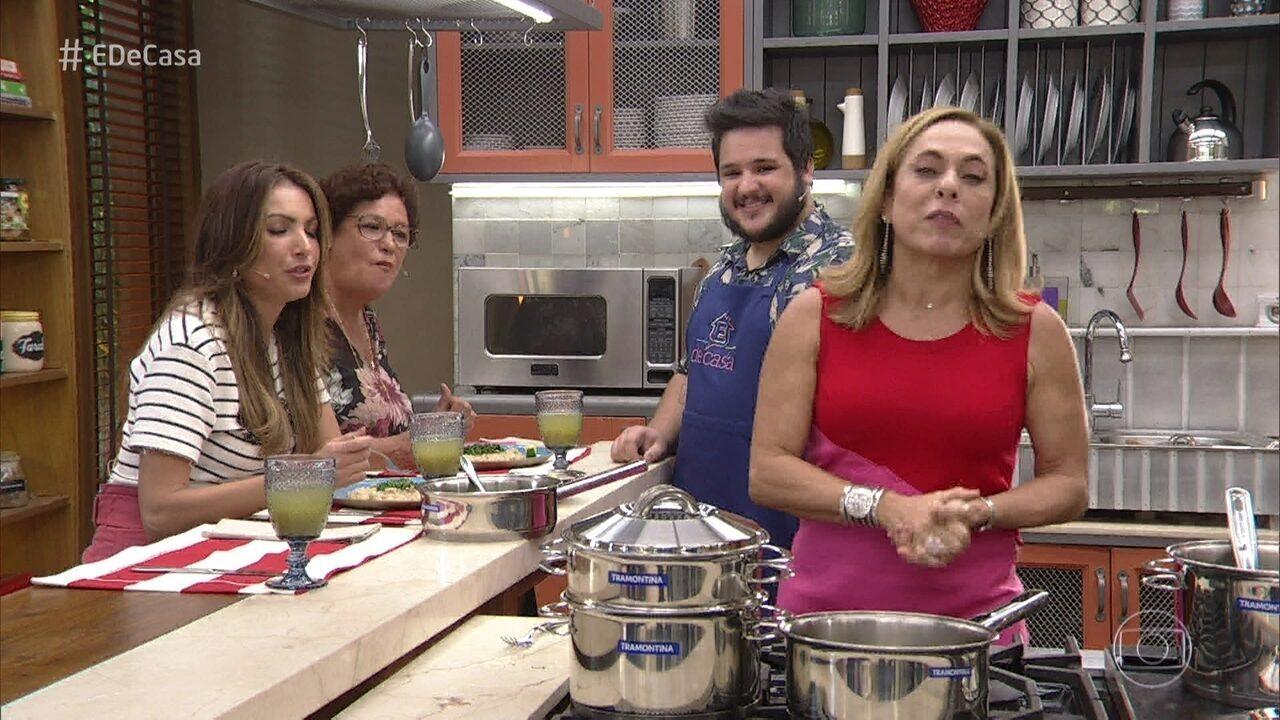 Cissa Guimarães se emociona no final do programa