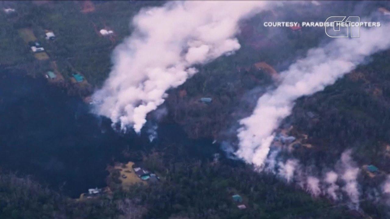 Fluxos de lava mais intensos podem atingir maior ilha do Havaí