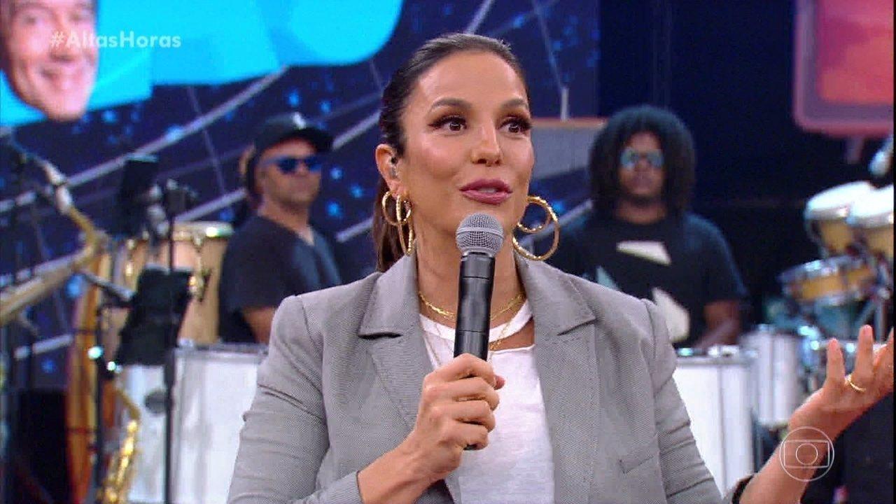 Ivete Sangalo fala sobre seu retorno após nascimento das filhas