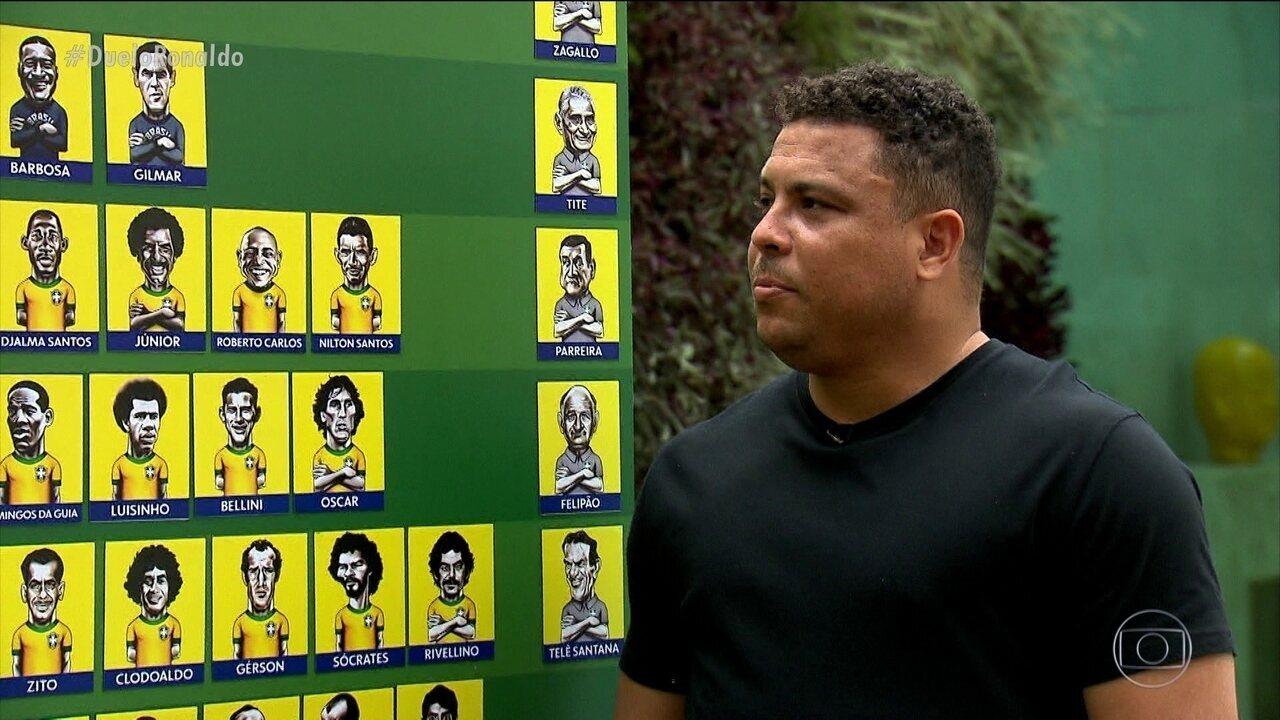 Duelo dos Sonhos: Ronaldo Fenômeno escala sua seleção brasileira de todos os tempos