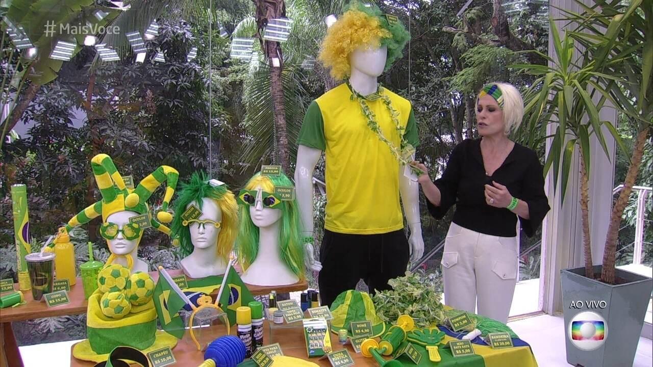 Ana Maria mostra acessórios legais para usar na Copa do Mundo