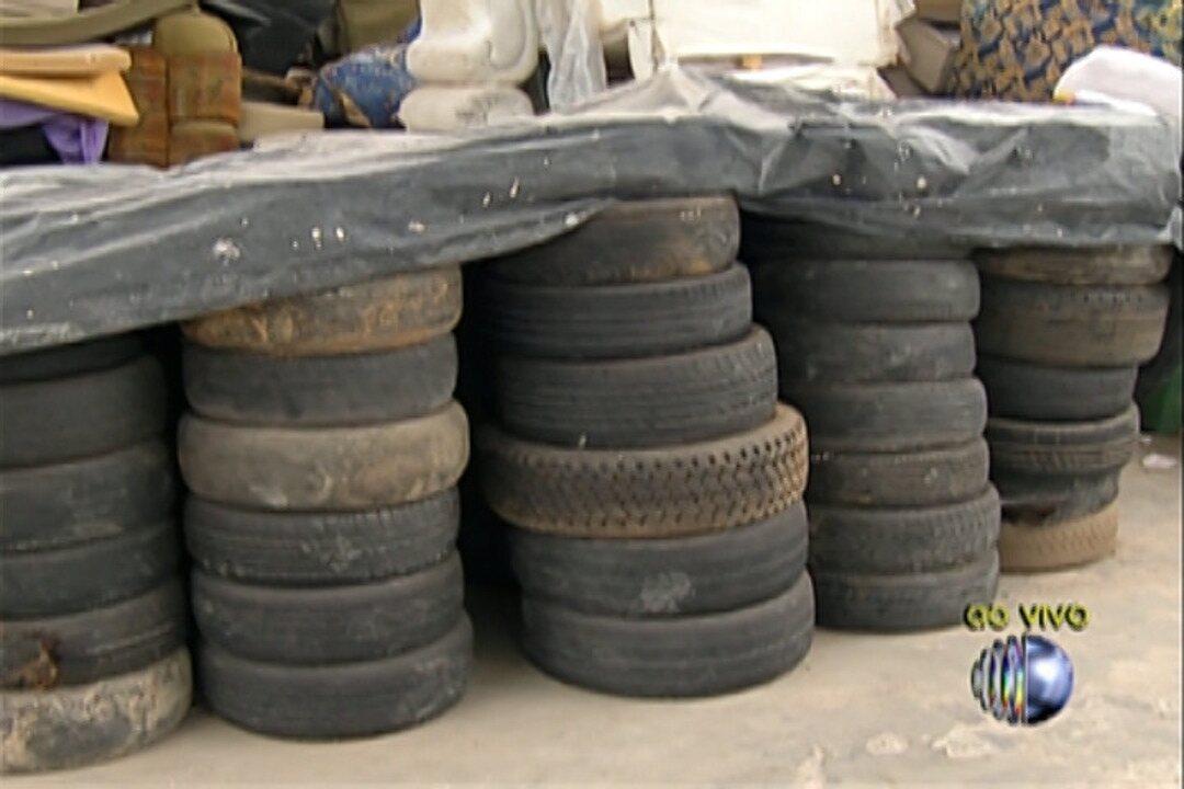 Santa Bárbara faz campanha para coleta de pneus