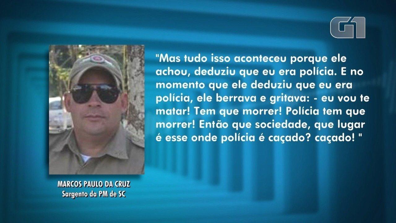 Marido de PM de Santa Catarina morta em Natal fala pela primeira vez à imprensa