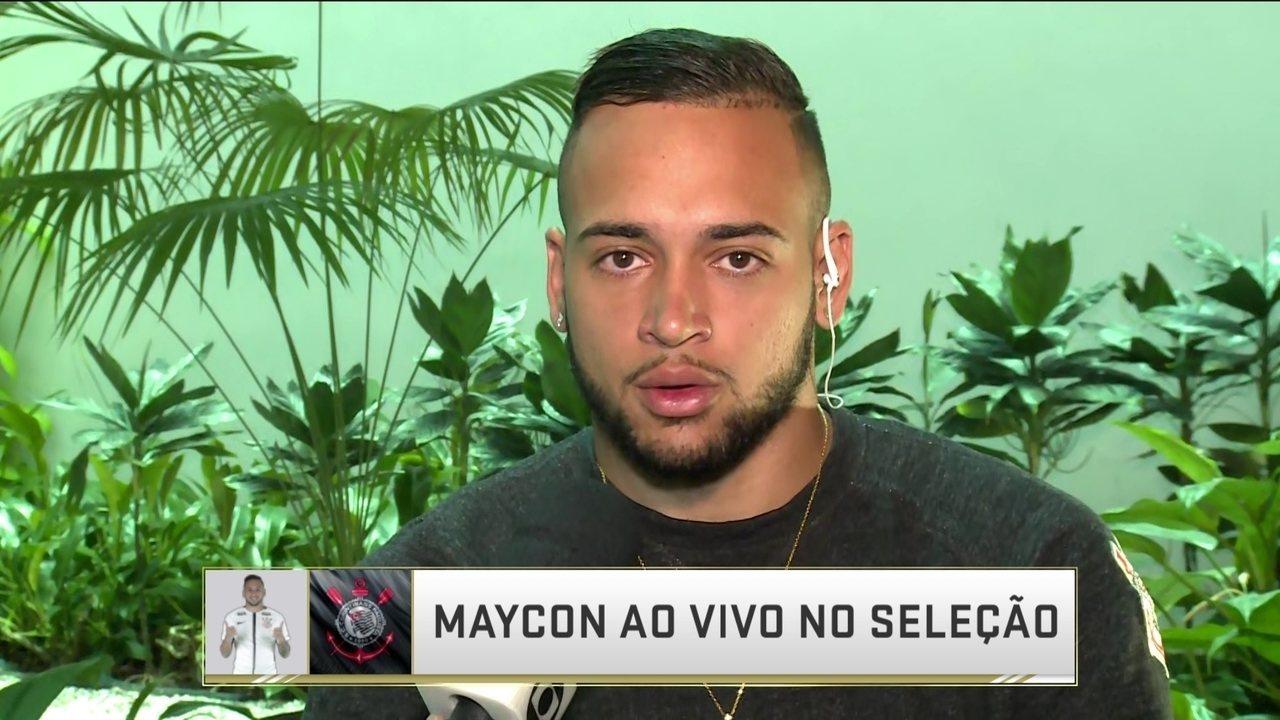 Maycon fala sobre possível saída do Corinthians e jogo pela Libertadores na Venezuela