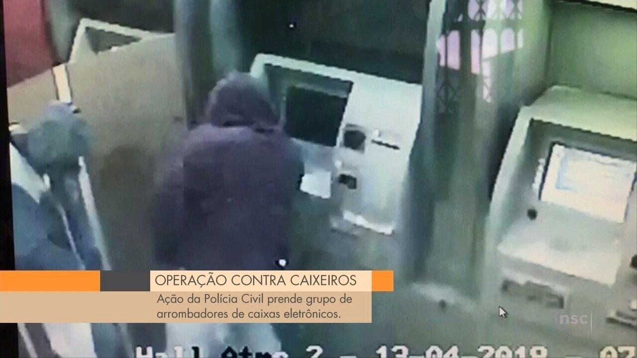 Operação da Polícia Civil prende grupo de arrombadores de caixas eletrônicos