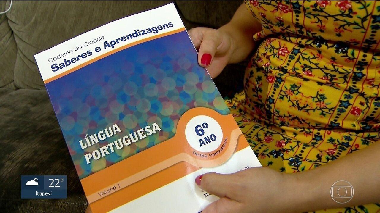 Conteúdo político dos cadernos distribuídos pela prefeitura aos alunos gera polêmica