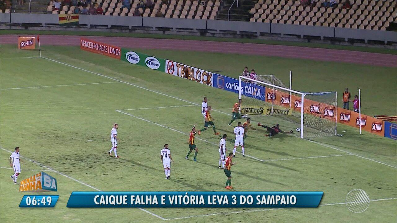 Vitória leva 3 do Sampaio Corrêa em dia de erros de Caíque pelo Nordestão d60099c4e3e0b