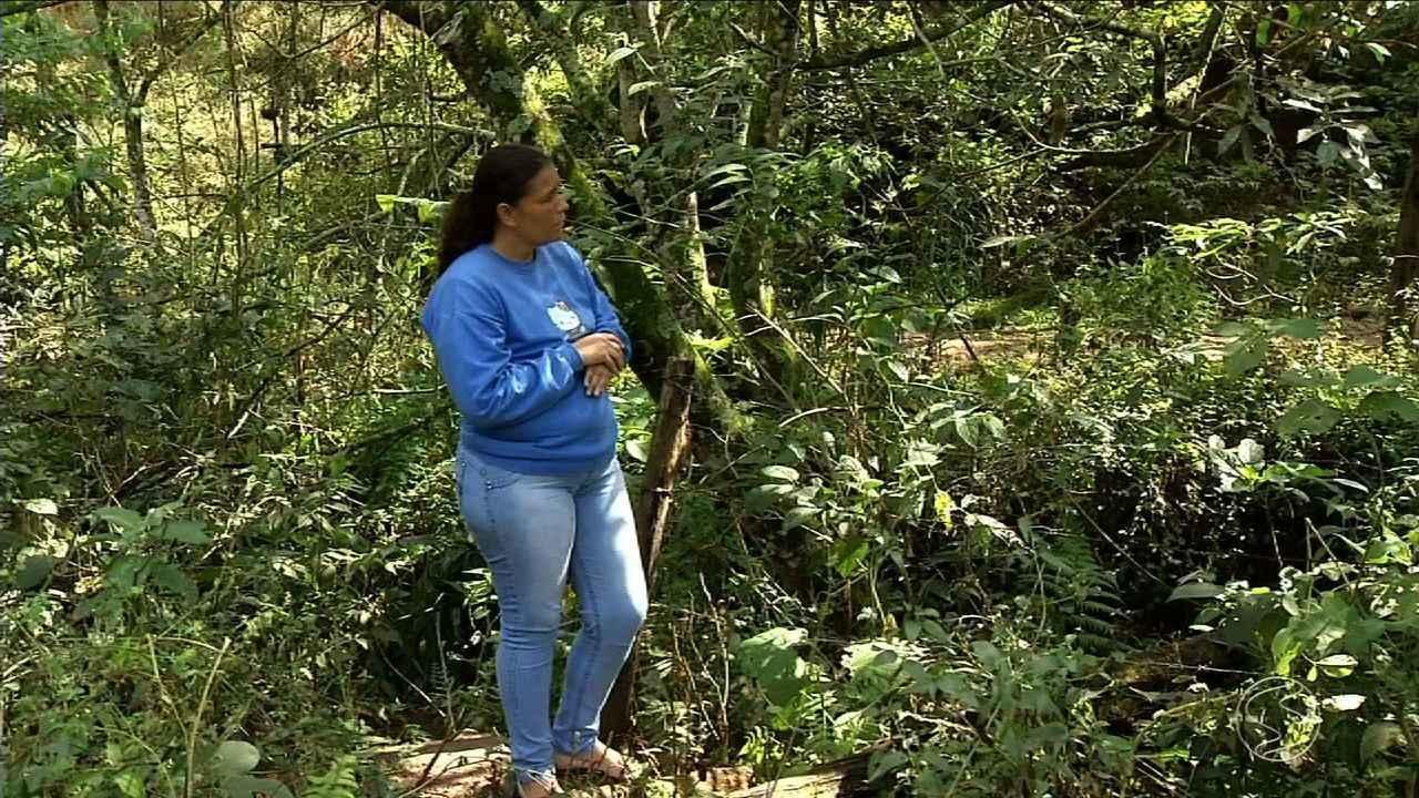 Resultado de imagem para Mãe encontra corpo de filho enterrado na mata, em Volta Redonda: Eu comecei a cavar onde ele estava, foi um choque
