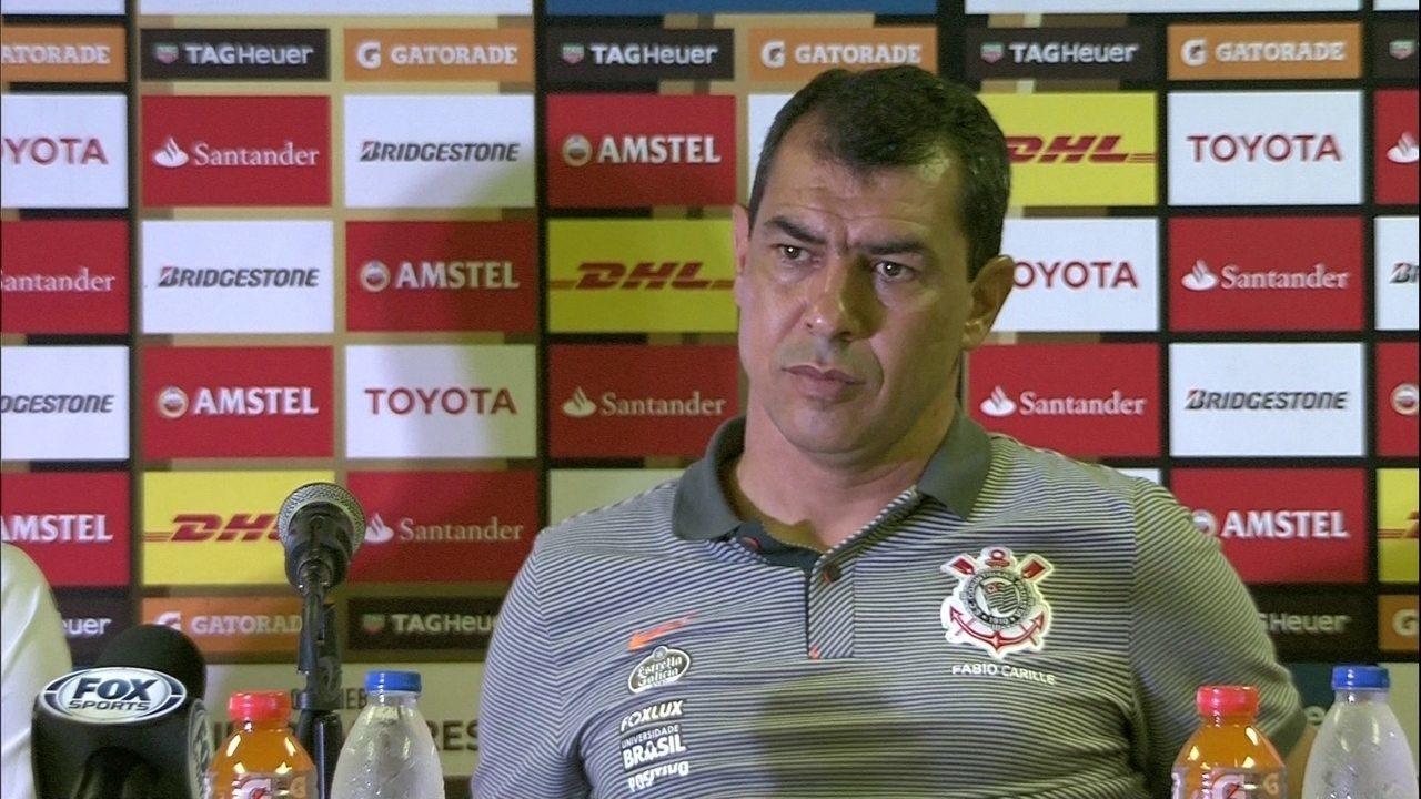 Carille admite chance de sair do Corinthians: