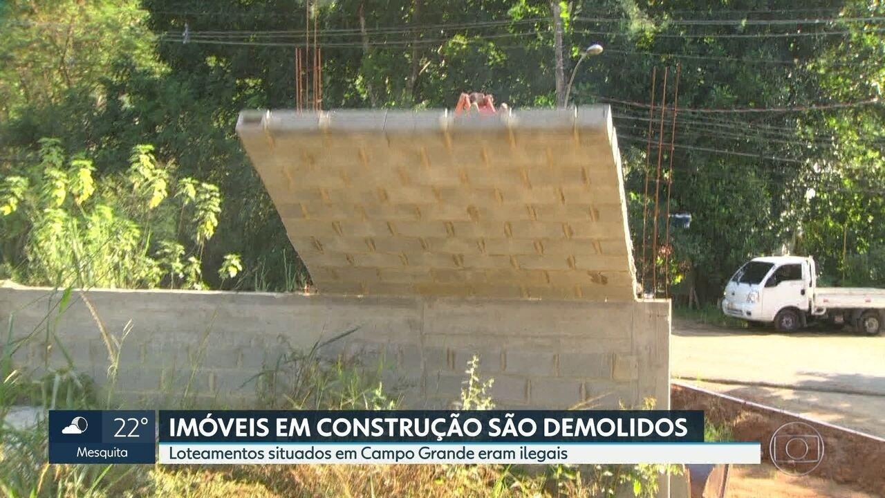 Imóveis ilegais são demolidos em Campo Grande
