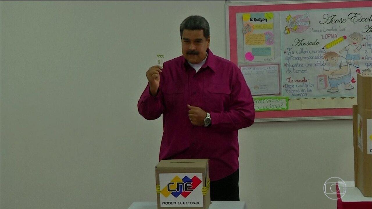 Maduro é reeleito na Venezuela sob denúncias de fraude e abstenção recorde