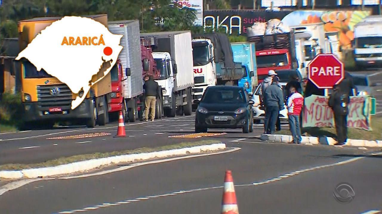 Caminhoneiros retomam protestos contra alta dos combustíveis