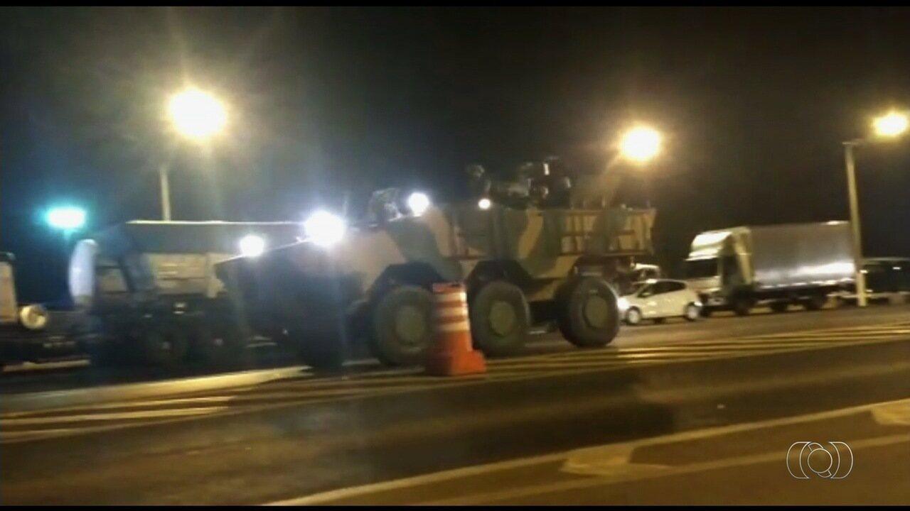 Força Nacional é enviada para atuar no desbloqueio de rodovias em Goiás