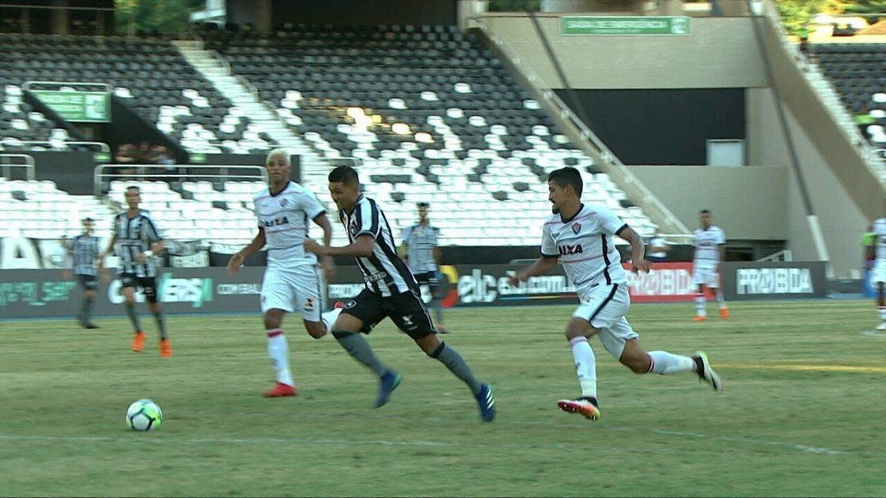 Melhores momentos: Botafogo 1 x 1 Vitória pela 7ª rodada do Brasileirão