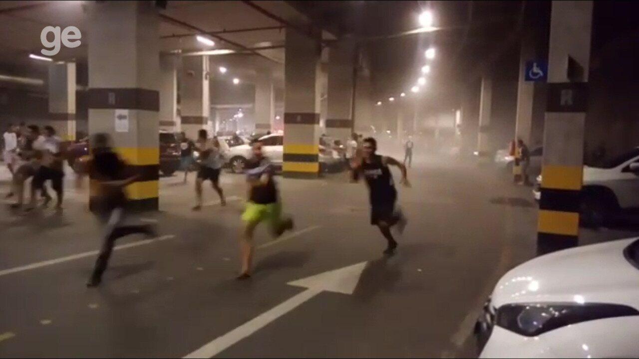 Protesto de torcida do Ceará termina em confronto com polícia no Castelão