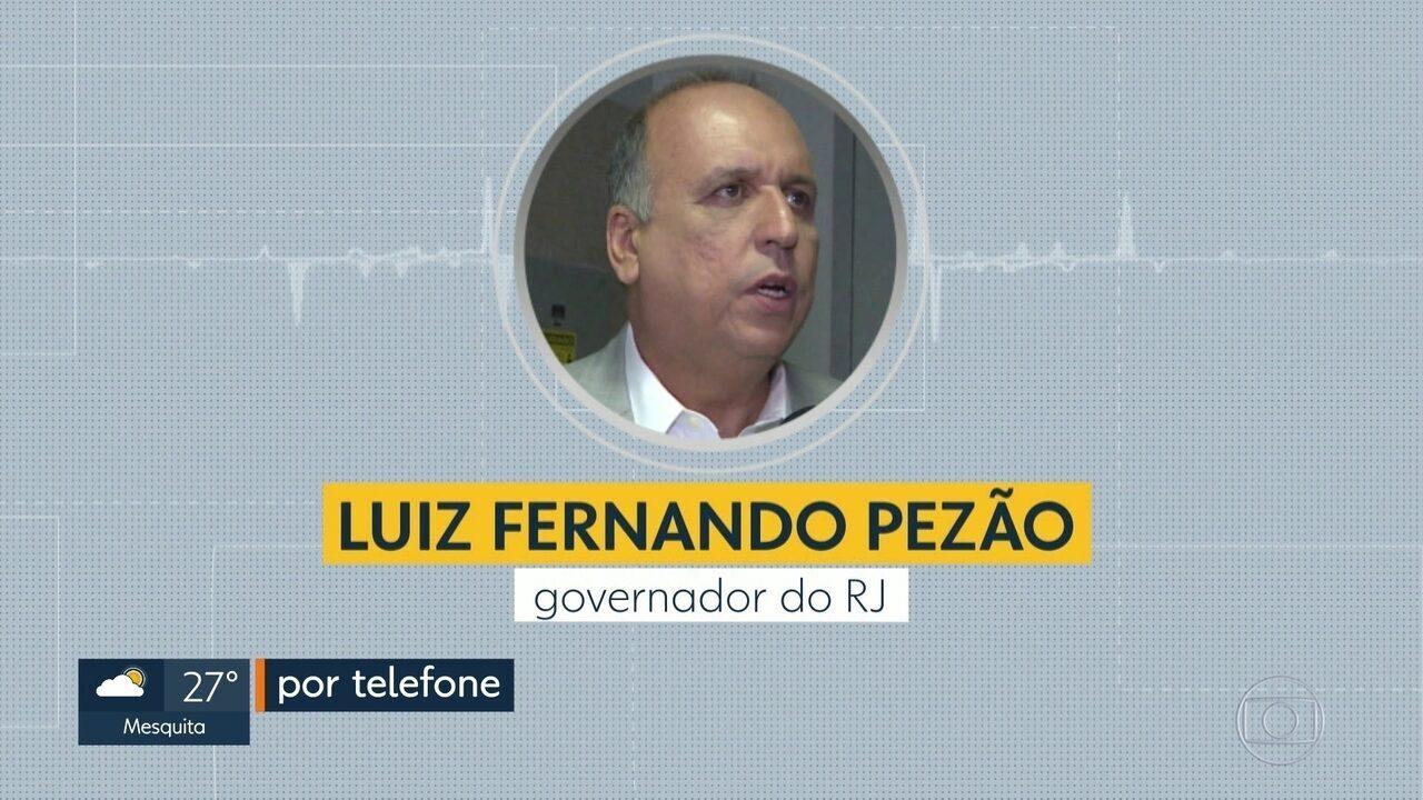 Pezão diz ter solicitado ajuda de interventor para transporte de carga de produtores