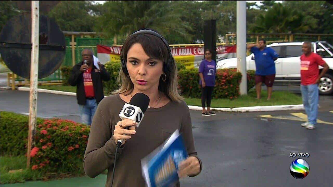 Petroleiros fazem protesto em Sergipe