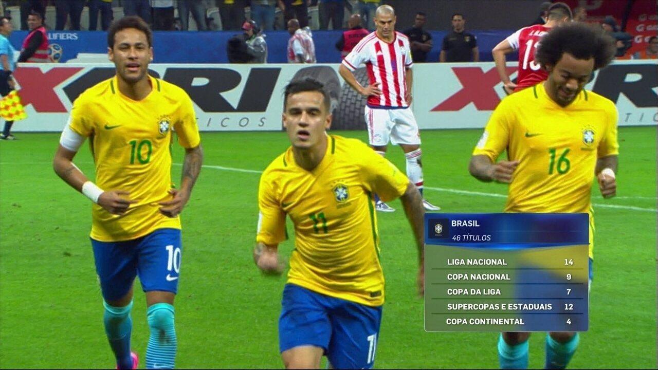 878a51fdaf Brasil é a seleção com maior número de títulos conquistados pelos  convocados na temporada