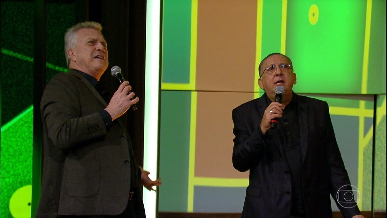 Galvão e Bial cantam juntos