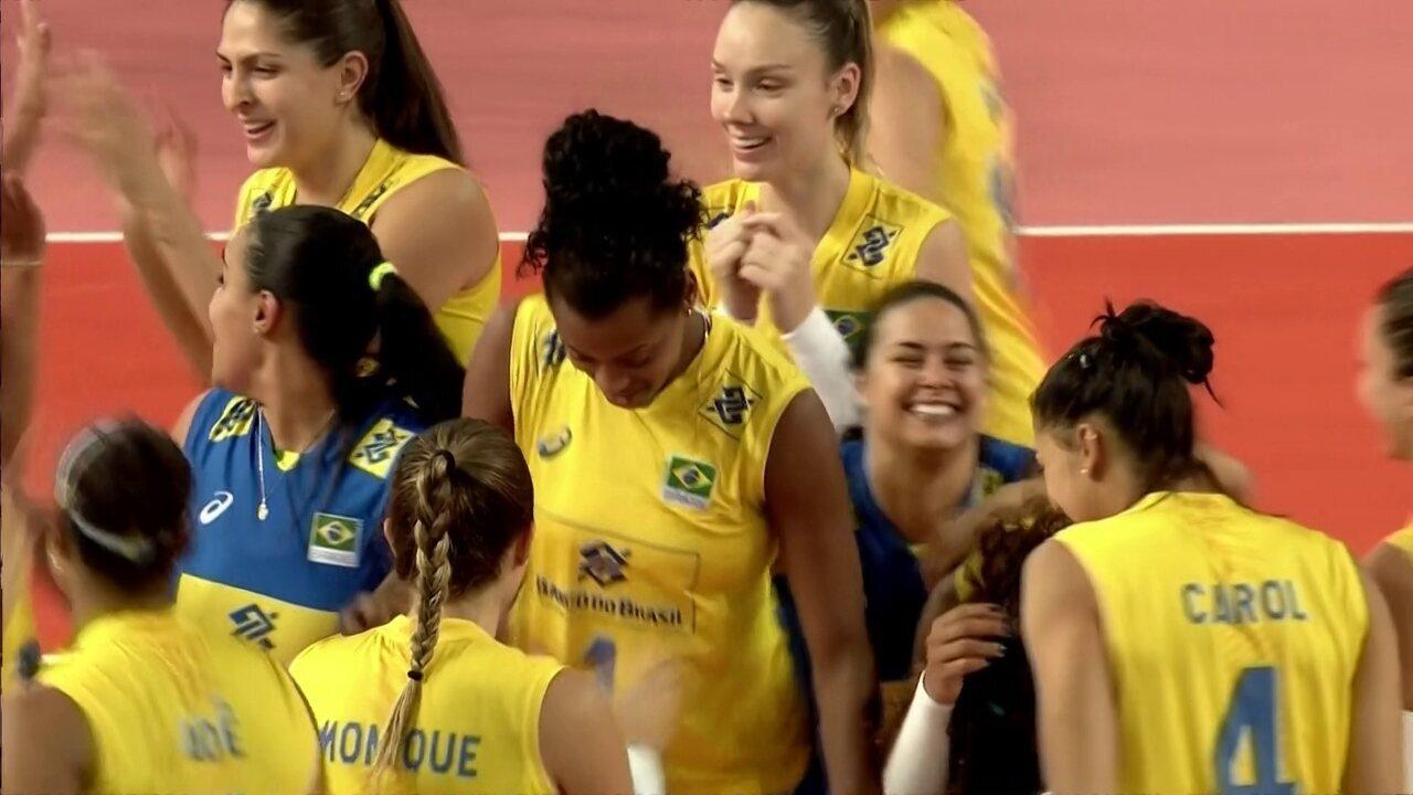 Melhores momentos de China 2 x 3 Brasil pela Liga das Nações de vôlei  feminino 817c77d528e04