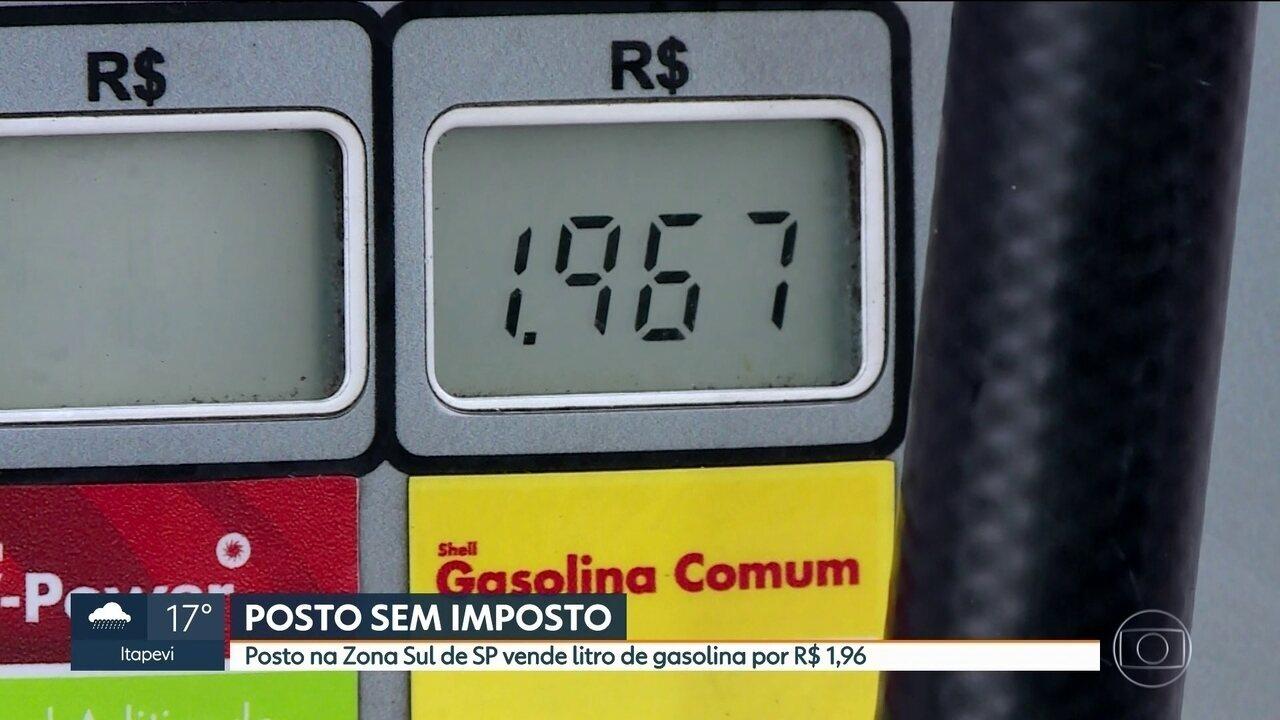 Posto da Zona Sul de SP vende litro da gasolina por R$ 1,96