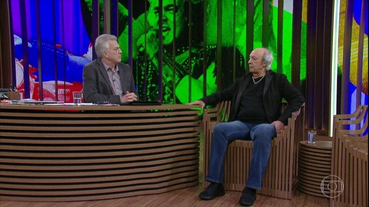 Erasmo Carlos fala sobre seu trabalho no filme 'Paraíso Perdido'
