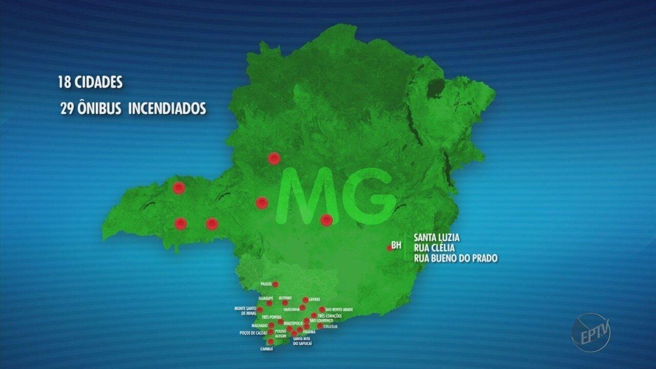 Sobe para 18 o número de cidades com veículos atacados no Sul de Minas