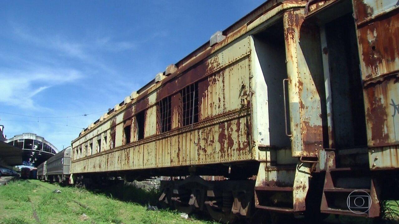 Trens que poderiam ajudar no transporte de carga estão abandonados ... 1a17da4cc2