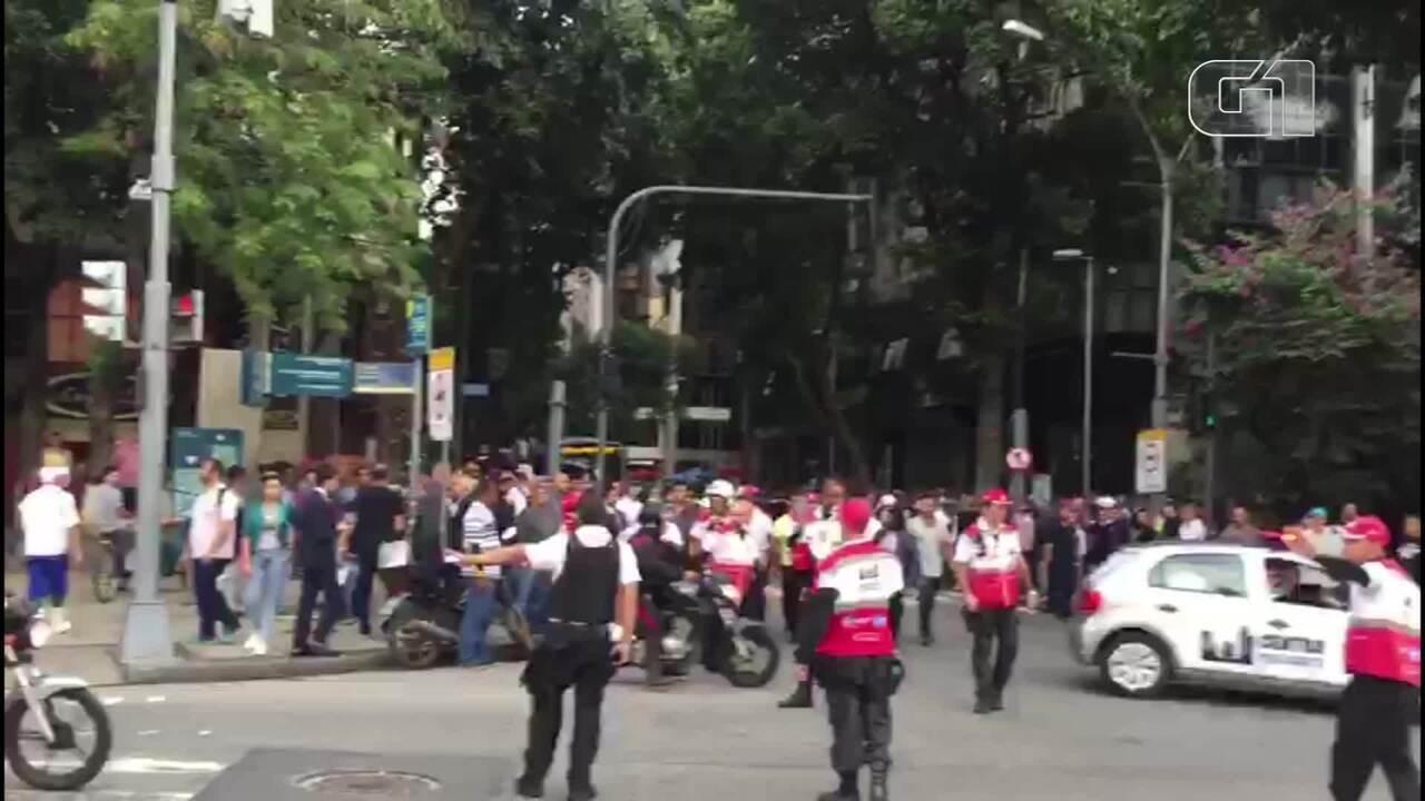 Tumulto é provocado após tentativa de assalto no Centro do Rio
