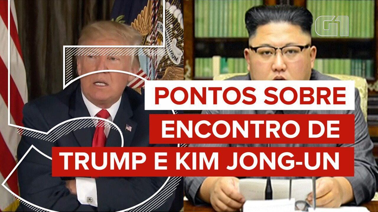 Veja 5 pontos para entender o encontro de Trump com Kim Jong-un
