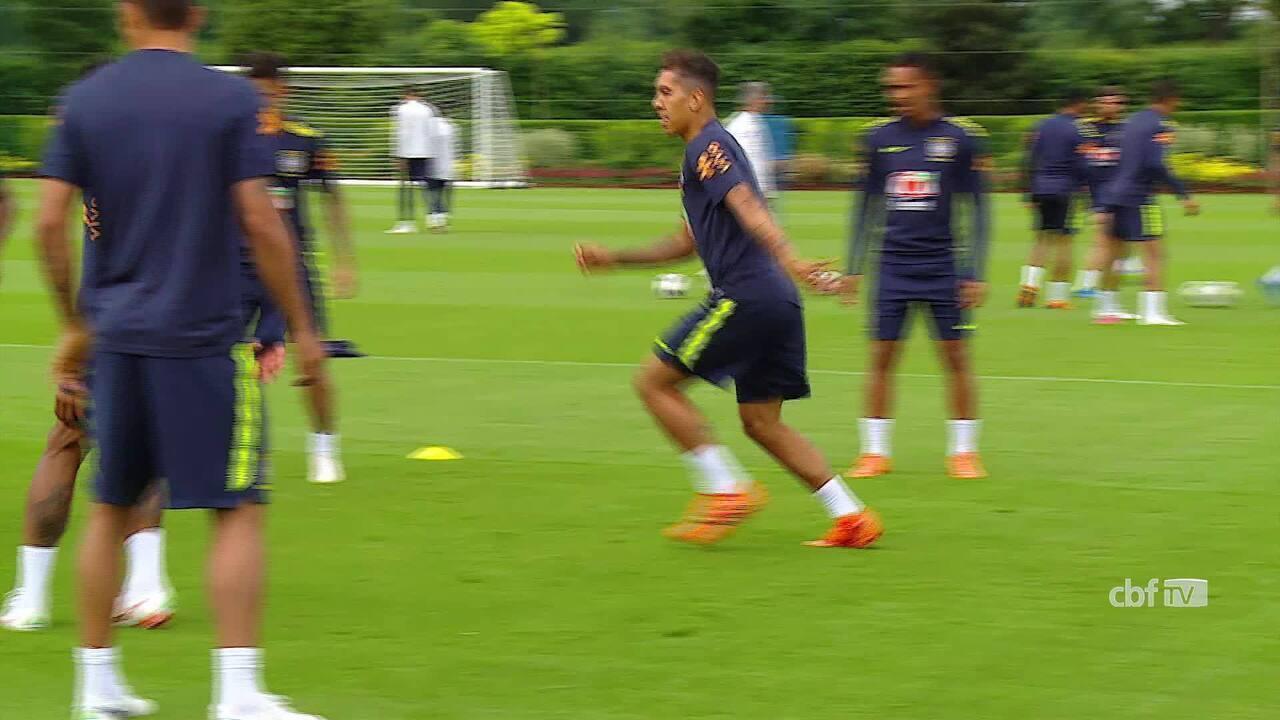 Seleção brasileira faz último treino em Londres 2532635aeef2e