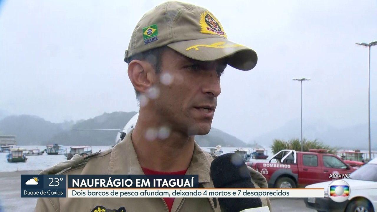 Forte ventania pode ter causado naufrágios em Itaguaí, diz bombeiro