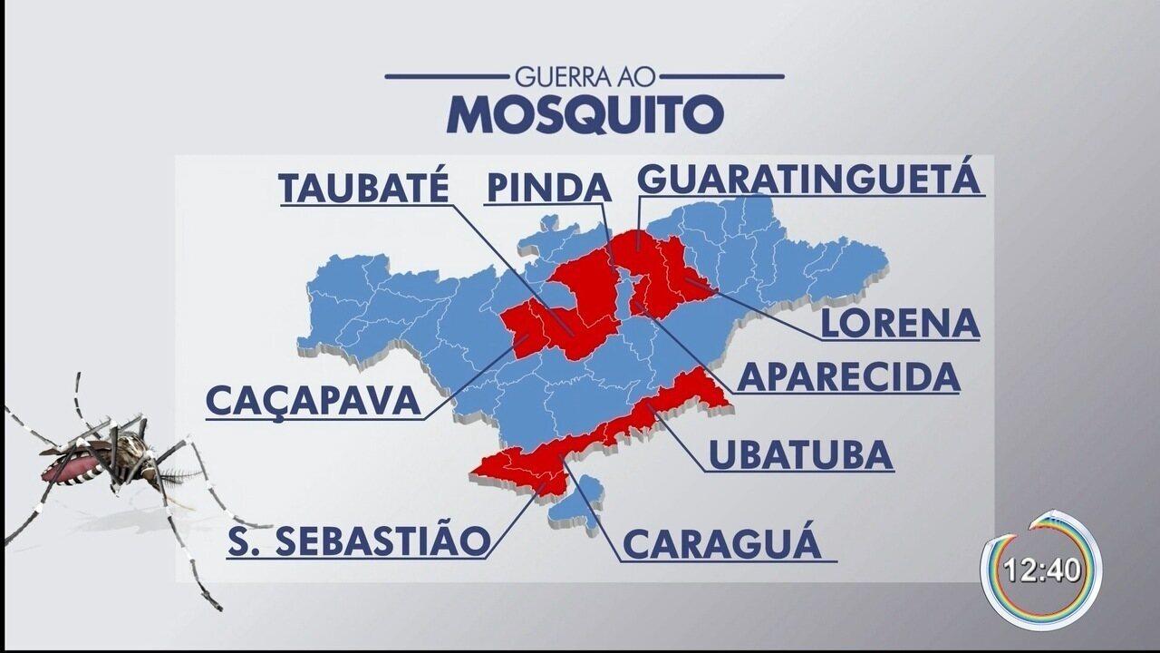 Nove cidades da região têm risco de surto de doenças causadas pelo Aedes