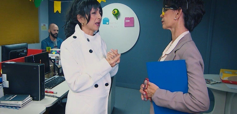 Maria Menezes mapeia a evasão no ambiente de trabalho e contracena com Rita Brandi