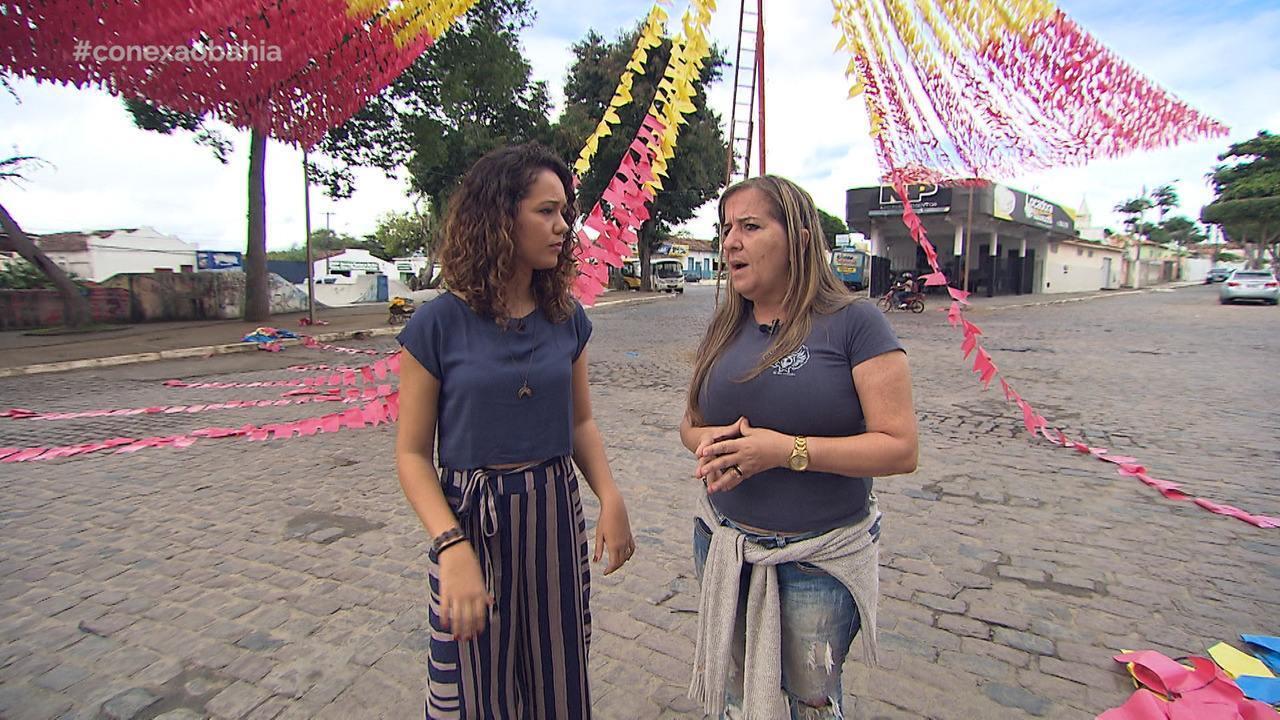 Renata Menezes conhece a estrutura do São João de Amargosa
