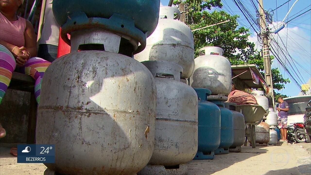 Gás de cozinha continua com distribuição irregular em Pernambuco