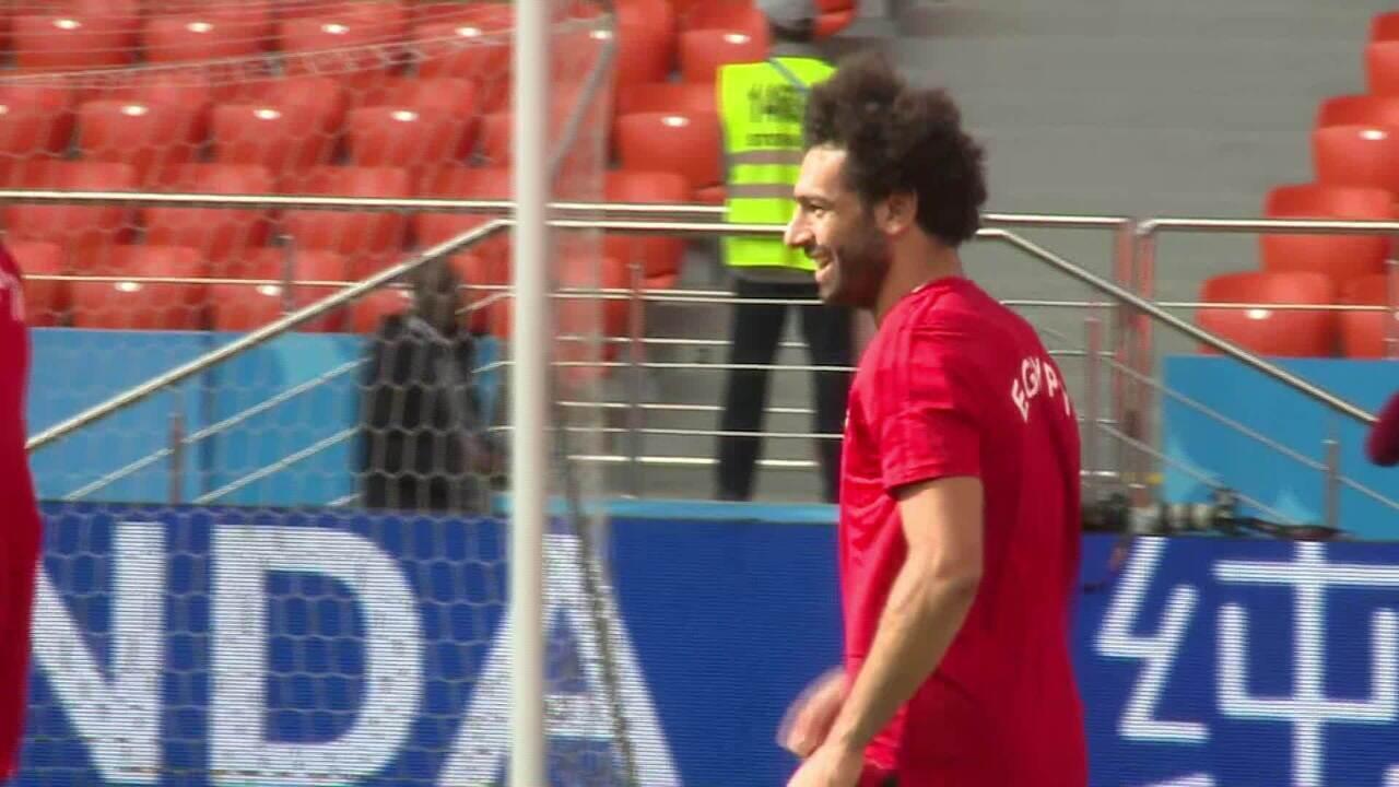 Salah treina com seleção egípcia e deixa comissão otimista