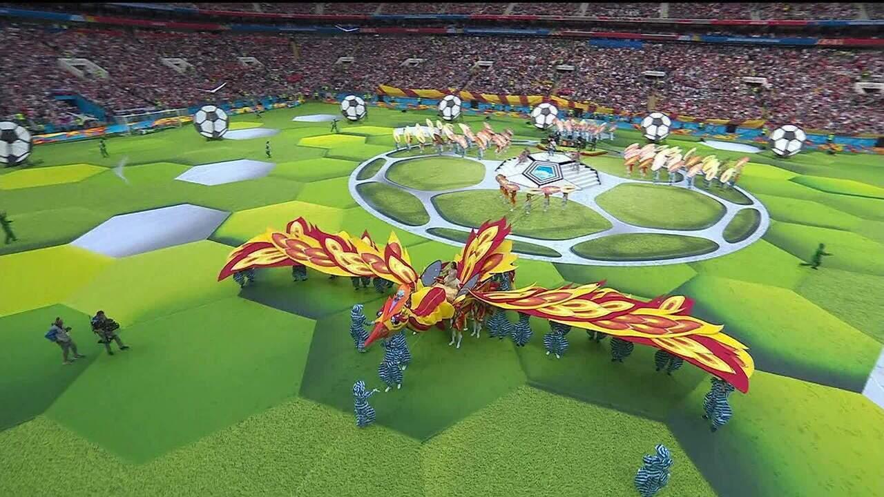 Brasil marcou presença na abertura da Copa do Mundo 2018