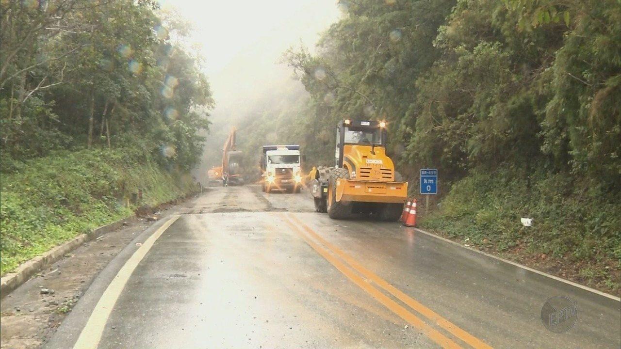 Desvio na BR-459 causa transtornos para motoristas em Delfim Moreira (MG)